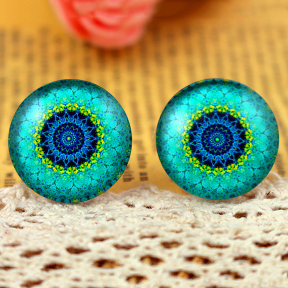 2021 Popular Handmade Accessories Hot Sale 10pcs 20mm Handmade Photo Glass Cabochons (H3-08)