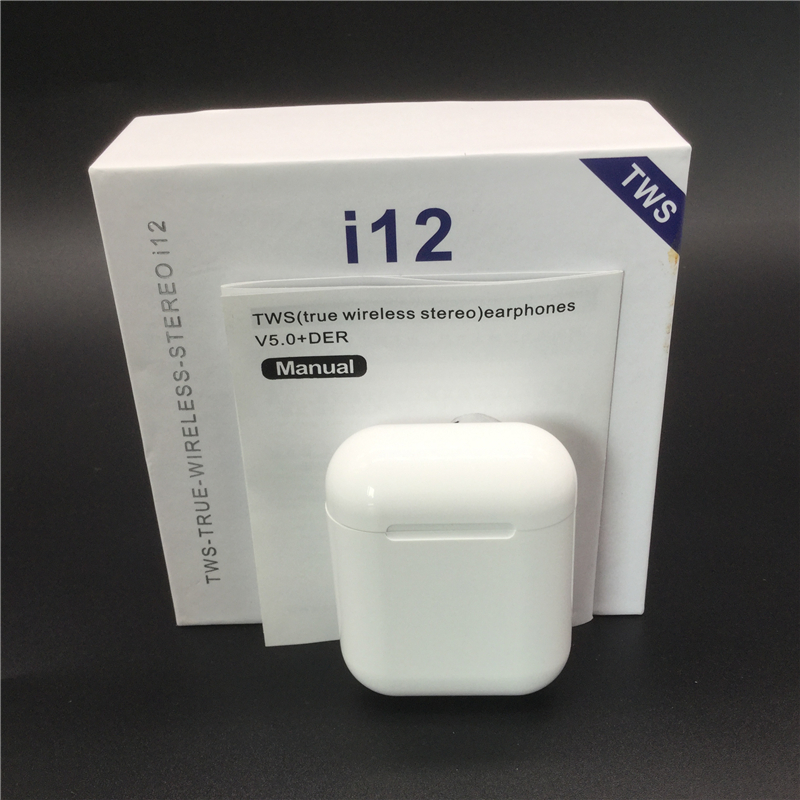 Original i12 TWS Drahtlose Kopfhörer Bluetooth 5,0 Headset Touch Control Mini Ohrhörer für Smart Telefon pk i11 i14 i60 i30