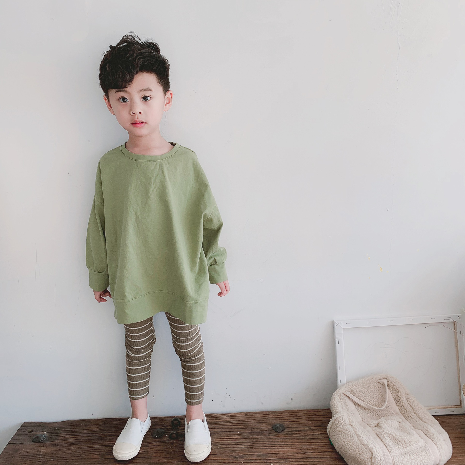 Spring Boy Girl Clothes T-shirt  Long Sleeves  Pinkycolor  Sweet Cotton O-Neck  Cotton  Casual  Fashion