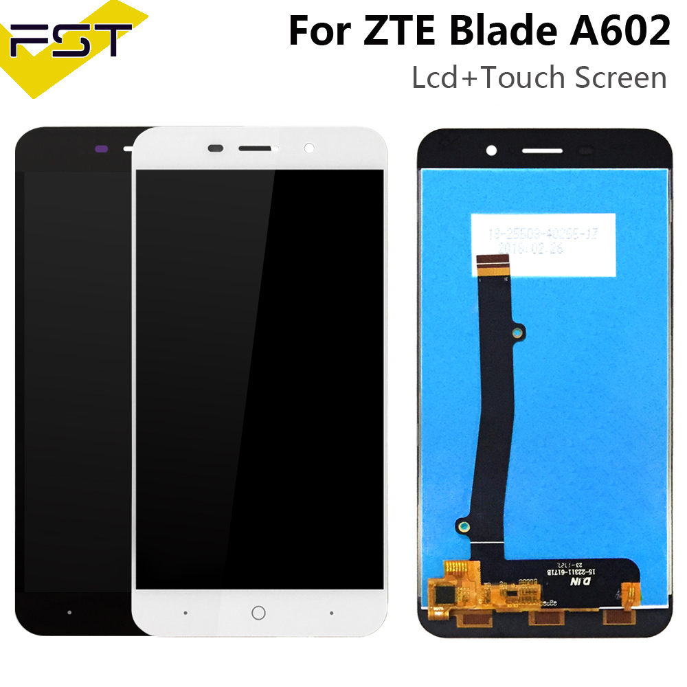 Top Quality for <font><b>ZTE</b></font> <font><b>Blade</b></font> <font><b>A602</b></font> <font><b>LCD</b></font> <font><b>Display</b></font> and touch Screen Digitizer Assembly for <font><b>ZTE</b></font> <font><b>A602</b></font> <font><b>LCD</b></font> Glass Panel Spare Parts+Tools image