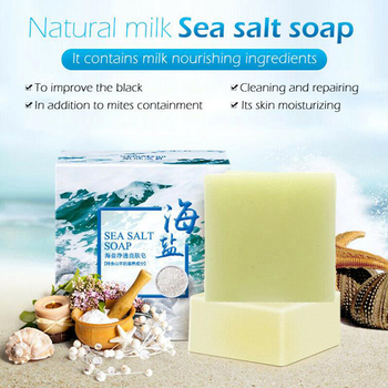 Sea Salt Soap Pimple Acne Treatment Goat Milk Face Wash Soap Hand Washing Soap caru skincare activated charcoal dead sea salt organic face soap