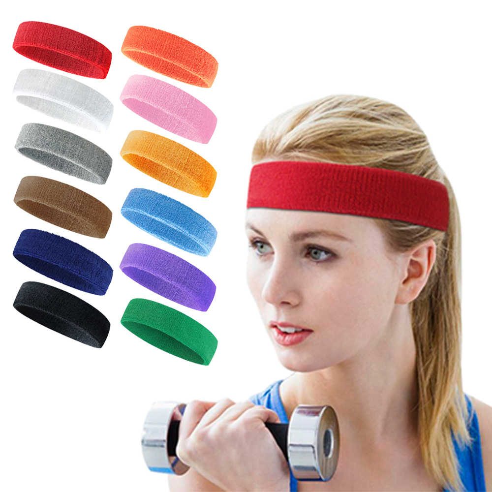 1PCS Yoga Stirnband Sport Gym Stretch Kopf Band Mens Frauen Sweatproof Atmungs Haar Band Schweiß Schweißband