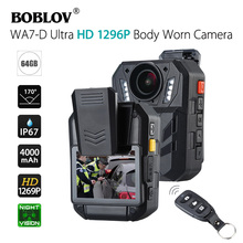 Boblov WA7 D 32G/64G Ambarella A7 32MP Hd 1296P Wearable Body Camera Beveiliging Video Recorder 4000mah Batterij Met Afstandsbediening