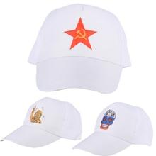 Russian Style Mens Baseball Cap Pentagram Republic Flags Skeleton Astronaut Printed Pattern Casquette Caps Outdoor Fishing Hikin