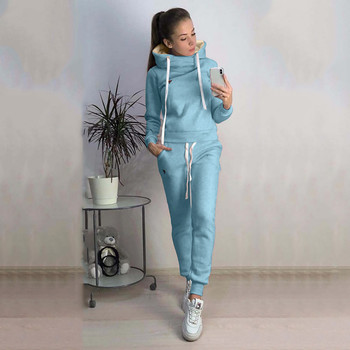 2 Pcs Sweatsuits Set Women'S Tracksuit O-Neck Hoodies Long Sleeve Tops Long Pants Outfits Set-Sport Winter 2019 New 1