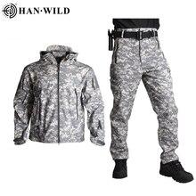 HAN WILD TAD Tactical Jackets Men Soft Shell Jacket Army Win