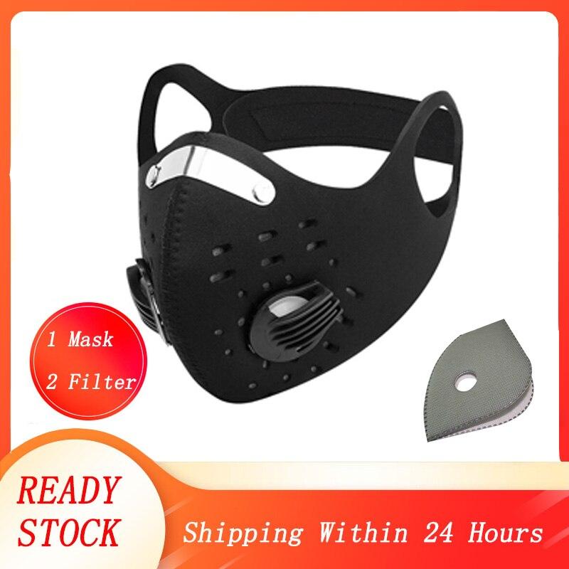 Пылезащитный воздушный фильтр FFP3 маска дышащий двойной клапан PM2.5 Пылезащитная маска респиратор Пылезащитная Маска Рот Респиратор FFP2 вело...
