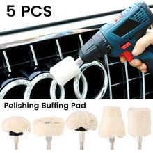 1 set Auto Polieren Kegel Polieren tuch rad Pad Auto Wachsen Wolle Polieren Disc Hub Schönheit Reinigung Werkzeug Für Polierer adapter