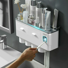 UV Toothpaste Dispenser For Bathroom Wall Mounted Toothbrush Sterilizer Magnetic Adsorption Suction Cup For Toothbrush