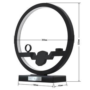 Image 5 - צ י אלחוטי מטען עבור iPhone 11 פרו מקס סמסונג טלפון מחזיק עם LED מנורת טעינת תחנת Dock עבור Airpods iWatch 5 4 3 2 1