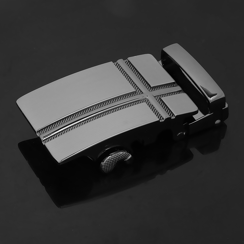 MENS METAL RATCHET BELT BUCKLE AUTOMATIC BUCKLE FOR MENS 36mm -39mm Genuine Leather BELT