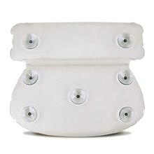ПУ круглая мягкая Ванна Подушка Толстая Роскошная подушка для ванны спа супер захват присоски Душ подголовник#22