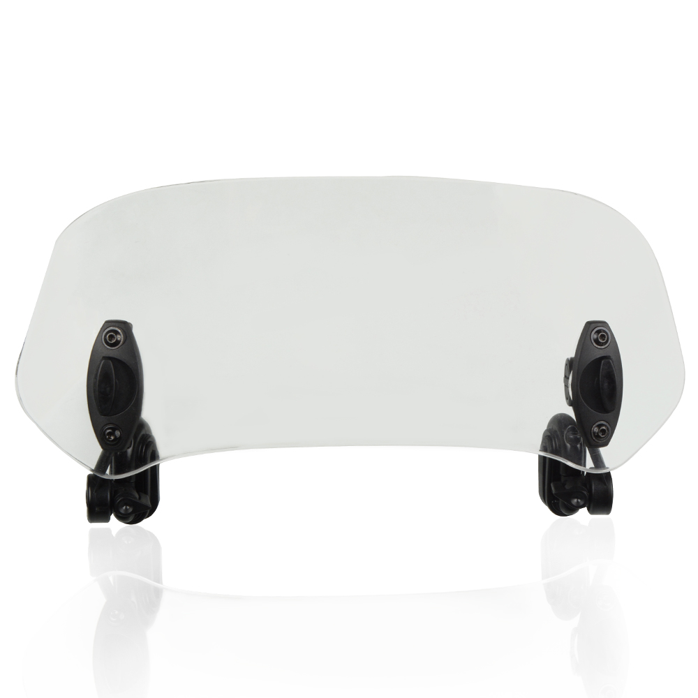Motorcycle Adjustable Clip-on Windshield Extension Spoiler Air Deflector Windscreen For <font><b>SYM</b></font> GTS <font><b>300i</b></font>/400i ABS/JOYMAX Z XS300T image