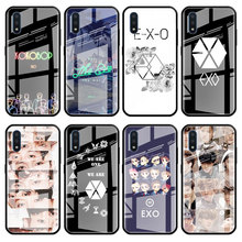 Tempered Glass Phone Case for Samsung Galaxy A20 A30 A40 A50