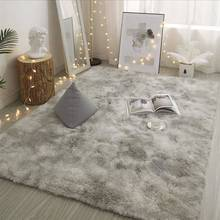 Long Hair Living Room Carpet Sofa Coffee Table Rug Bedroom Room Bay Window Bedside Carpet Luxury Furry Baby Nursery Decor Rug