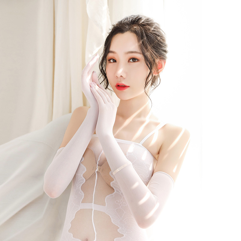 New Sexy Transparent Anti-hook Ladies Gloves Stockings Bride Long-sleeve Arm Women Sunscreen Gloves Liturgy Ladies Long Gloves