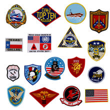 17 pces/um conjunto superior arma teste de vôo maverick ranger remendo Vf-1 VX-31 tomcat eua marinha lutador arma escola esquadrão emblema remendos
