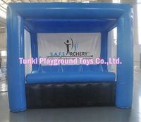 knock me out inflatable archery hover ball target games
