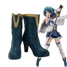 Puella Magi Madoka Magica Sayaka Miki Cosplay Boots High Hee