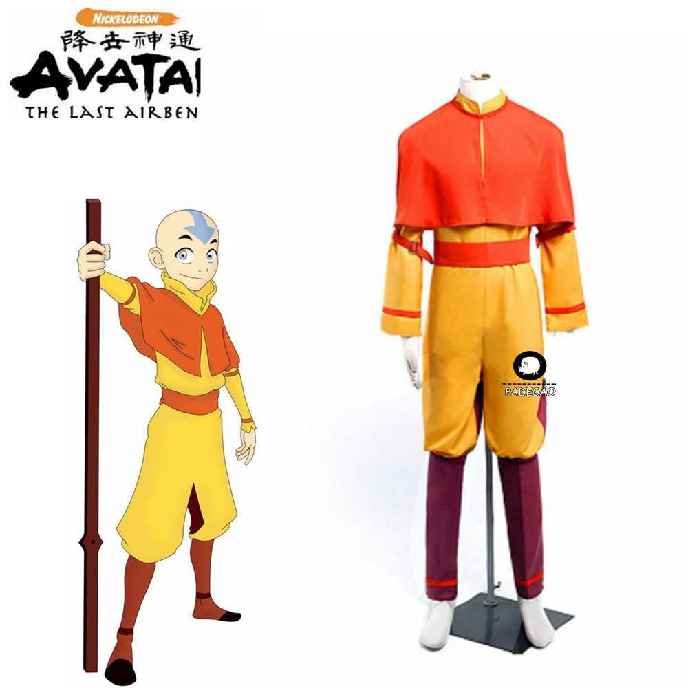 Anime <font><b>Avatar</b></font> The Last Airbender Bumi <font><b>Avatar</b></font> <font><b>Aang</b></font> Cosplay Costume Custom Made Any Size image