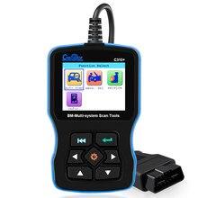 Obd2 scanner para bmw airbag/abs/srs e46 e90 e60 e39 todo o sistema ferramenta de diagnóstico criador c310 + pro óleo serviço redefinir leitor de código