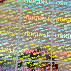 2000pcs 30x15mm Holographic Sticker Original Tamper Proof Security Seal Warranty One Time Label Custom