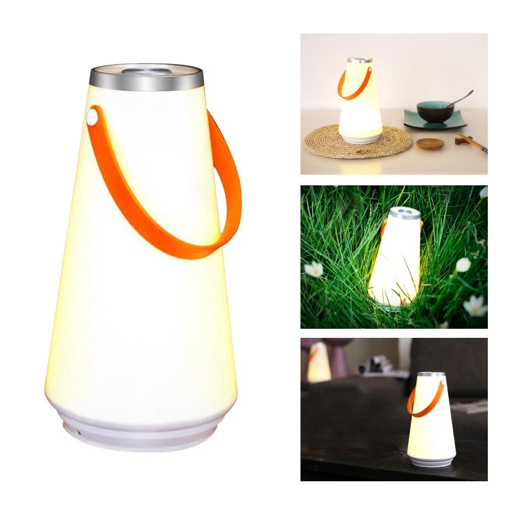 HA CONDOTTO LA Luce Creativa di Notte Casa Lampada Da Tavolo Lampada USB Ricaricabile Portatile Senza Fili Dell'interruttore di Tocco di Emergenza di Campeggio Esterna di Luce Calda