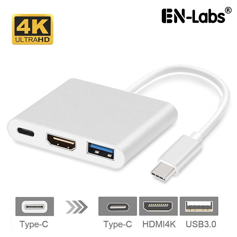 USB Type-C Thunderbolt 3 To USB-C DP Charging + HDMI 4K2K /VGA 1080p +USB 3.0 Port Multiport Adapter Converter For Macbook