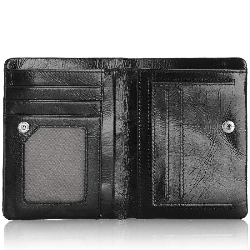 Angel factory supply man portemonnee lederen korte paragraaf portemonnee olie wax twintig procent een verbindt zich mijn portemonnee - 4