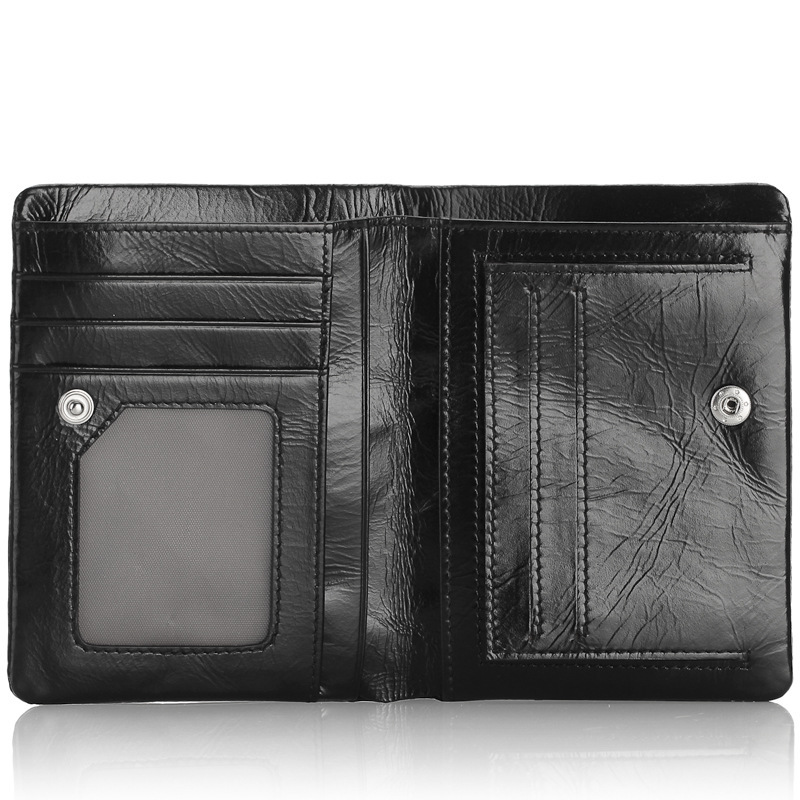 angel factory supply man purse leather brief paragraph change purse oil wax twenty percent a undertakes to my wallet - 4