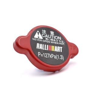 Amarelo/vermelho/azul ralliart tampa do radiador de alta pressão 15mm tamanho grande para mitsubishi diamante outlander evolução
