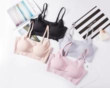 Seamless Underwear Lace Beauty Back Bra Gathered Sports Bralete Solid Color Women Lingerie