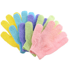skin bath exfoliating gloves Skin Cleaning Two-sided  Exfoliator Spa Massage (Random Color)