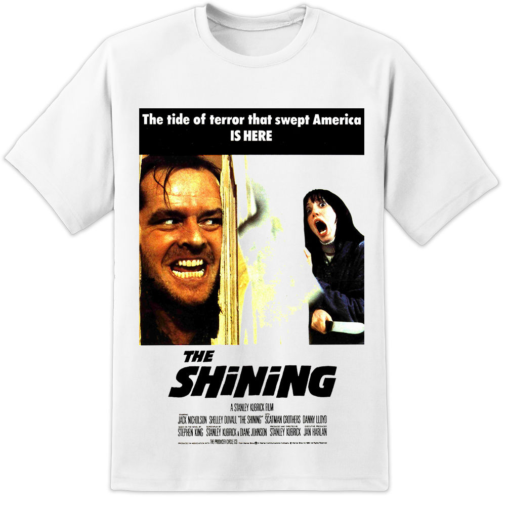 The Shining Movie Poster Stanley <font><b>Kubrick</b></font> Jack Nicholson T Shirt (S 3Xl) O Neck T-Shirts Male Low Price Steampunk image
