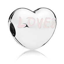 2019 New 925 Sterling Silver Beads Loved Heart Clip Charms fit Original Pandora Bracelets DIY Jewelry For Women 2019 autumn new 925 sterling silver beads auntie love heart charms fit original pandora bracelets diy jewelry for women