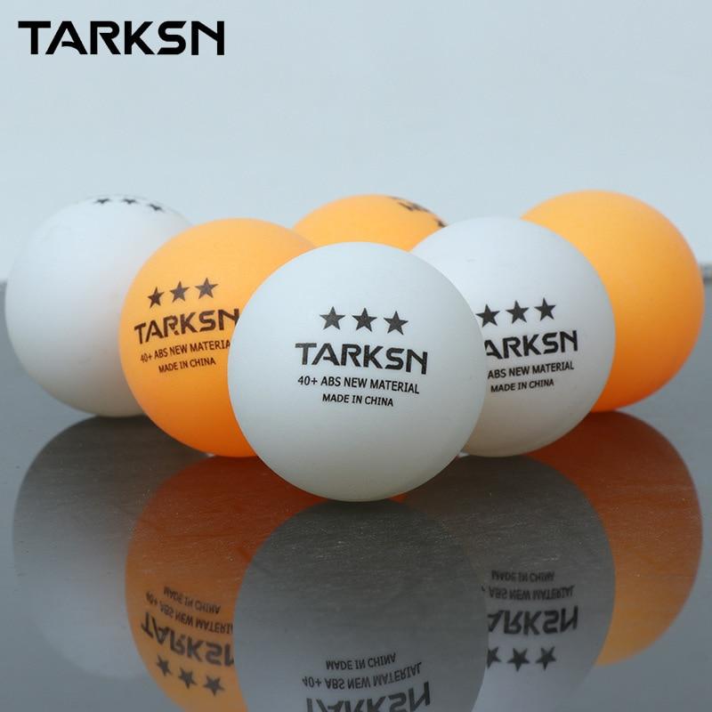 TARKSN 10pcs ABS Material Table Tennis Balls 3 Star  40+mm 2.8g Plastic Ping Pong Balls For TableTennis Tenis PingPong Ball