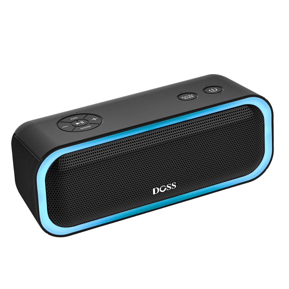 Предложение ограничено ДОСС SoundBox Pro СПЦ колонка bluetooth 2*10 водителей с мигающим светодио дный свет Enhanced Bass стерео звук IPX5 колонка для ноутбука,...