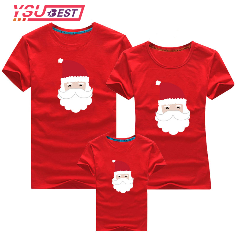 2019 Christmas Mother Daughter Shirt Christmas Gaffer Family Looks Clothes T Shirt Mommy And Me Clothes Baby Girls Boys Clothing