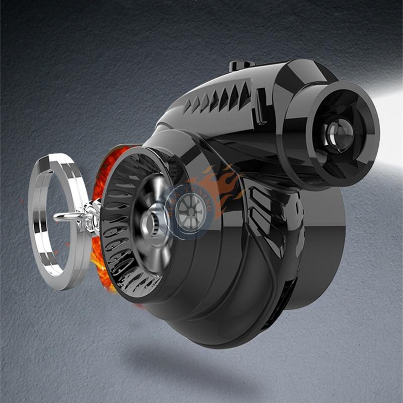 1X Новый стиль кольцо для ключей турбины выглядят Электрический usb-зарядник для зарядки светодиодный вентилятор спиннинг звук автомобиля ту...