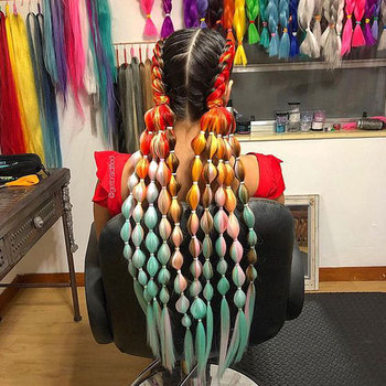 24 Inch 105 Color Synthetic Pre Stretched Crochet Hair Afro Wholesale Ombre Jumbo Braiding Extension For Box Twist Braids - discount item  42% OFF Synthetic Hair