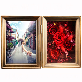 Eternal Flower Rose Wooden Family Picture Photo Frame Album Decoration Accessories Picture Frame Home Decor Valentine's Day Gift