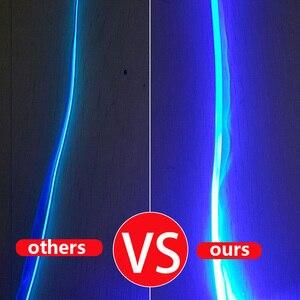 Image 3 - 8 متر RGB الألياف البصرية سيارة الداخلية الزخرفية المحيطة ضوء App التحكم الصوتي LED قطاع ولاعة السجائر السيارات جو مصباح 12 فولت