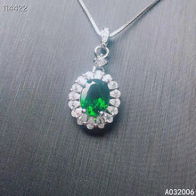 KJJEAXCMY fine jewelry 925 Silver inlaid Natural diopside Gemstone luxury necklace ladies pendant support check the vagabond prince bass solo парфюмерная вода 100мл тестер