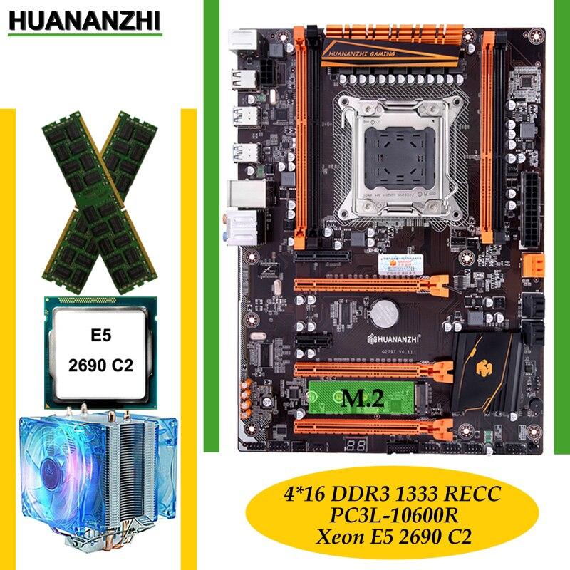 Construire un ordinateur parfait HUANANZHI deluxe X79 LGA2011 carte mère CPU Xeon E5 2690 C2 RAM 64G (4*16G) DDR3 1333MHz RECC