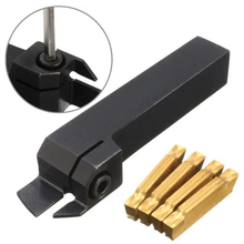 Hand-Turning-Tool-Holder Mgmn200-Insert Lathe MGEHR 1616-2 Right with 4pcs for 2mm-Cut