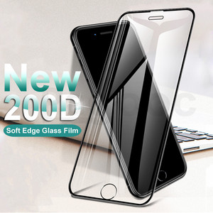 200D Curved Edge Protective Tempered Glass On The For iPhone 6S 6 7 8 Plus X XS Glass XR 11Pro Xs Max Screen Protector Film Case(China)