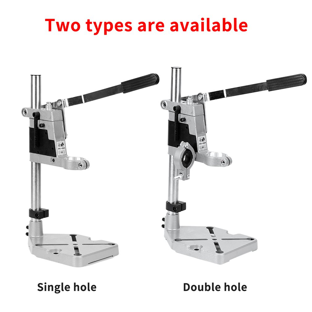 Aluminum Alloy Bench Drill Stand Electric Drill Base Frame Drills Holding Holder Bracket Drilling Guide For Woodworking
