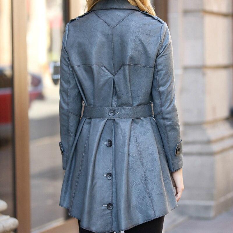 Genuine Leather Montone Jacket Women Luxury Leather Real Sheepskin Coats Female Belt Spring Autumn Clothes 2020 LWL1464