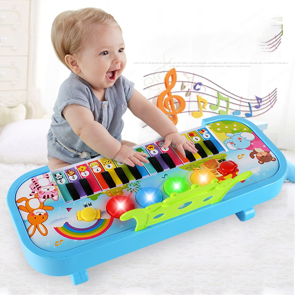 Infant Early Childhood Education Puzzle Piano Music Toy Children'S Multifunction 24 Key Candy Keyboard