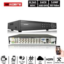 16 kanal AHD DVR 5MP DVR 16CH AHD AHD 5MP NVR Unterstützung 2592*1944P 5,0 MP Kamera CCTV video Recorder DVR NVR HVR Sicherheit System
